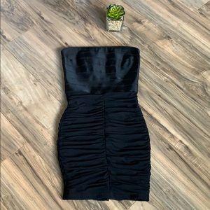 Bebe Black Strapless Banded